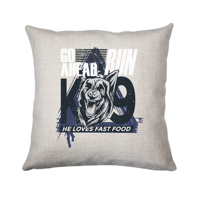 Police dog quote cushion cover pillowcase linen home decor