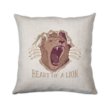 Heart of a lion cushion cover pillowcase linen home decor - Graphic Gear