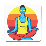 Colorful yoga woman coaster drink mat