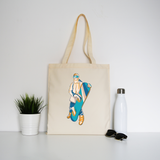 Snowboarder sport tote bag canvas shopping - Graphic Gear