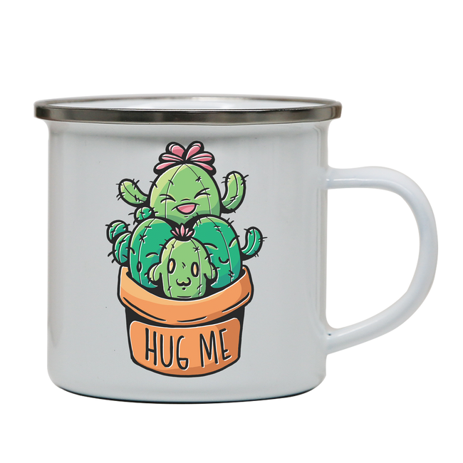 Cacti hug enamel camping mug outdoor cup colors - Graphic Gear