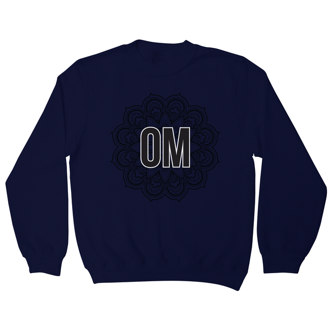 Mandala om ornamental floral sweatshirt - Graphic Gear