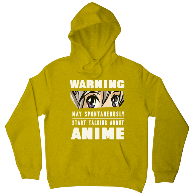 Anime warning quote hoodie