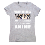 Anime warning quote women's t-shirt
