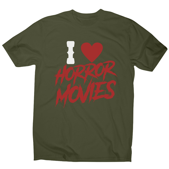 I love horror movies men's t-shirt - Graphic Gear