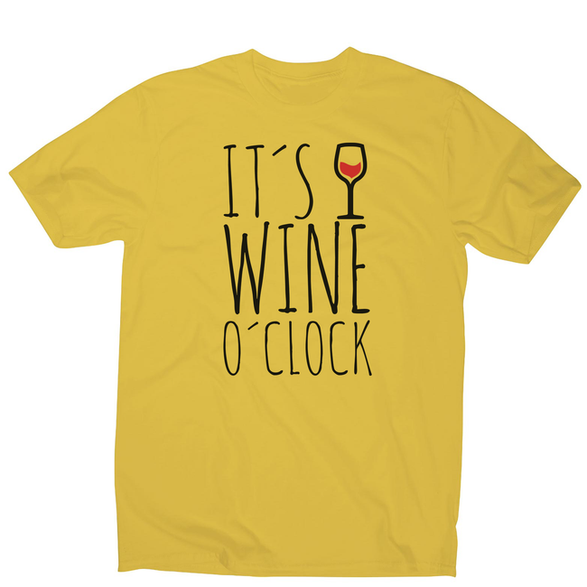 Wine o'clock men's t-shirt - Graphic Gear