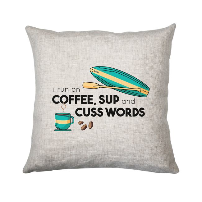 Paddle quote cushion cover pillowcase linen home decor