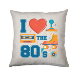 Love the 80's cushion cover pillowcase linen home decor - Graphic Gear