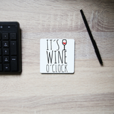 Wine o'clock coaster drink mat - Graphic Gear