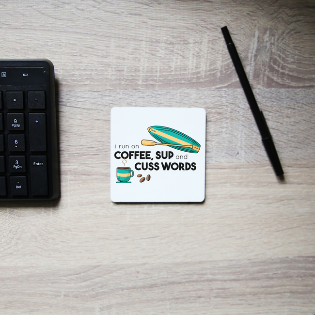 Paddle quote coaster drink mat
