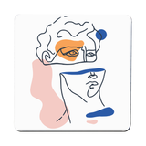 Abstract David head coaster drink mat