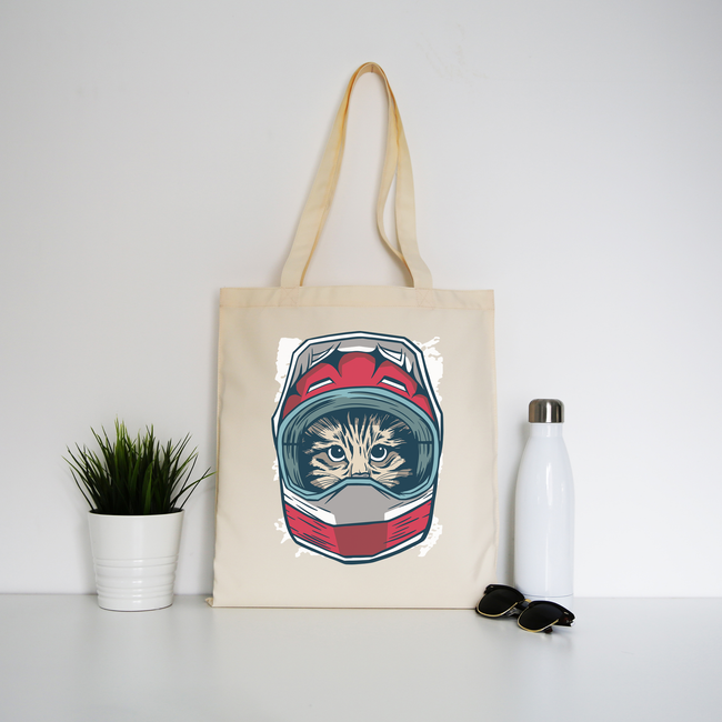 Cat driver tote bag canvas shopping
