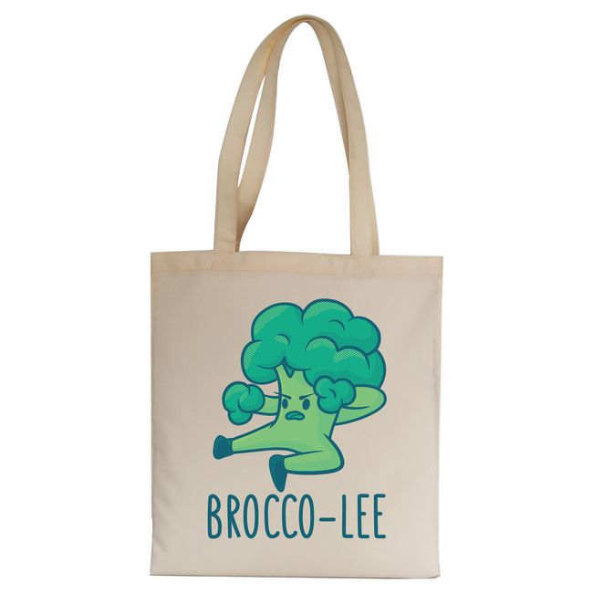 Broccolee funny tote bag canvas shopping - Graphic Gear
