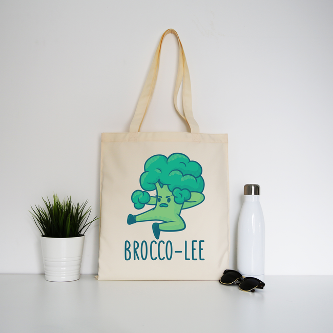 Broccolee funny tote bag canvas shopping