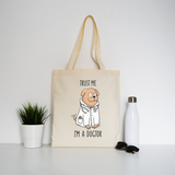 Doctor dog tote bag canvas shopping - Graphic Gear