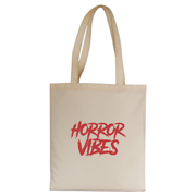 Horror vibes tote bag canvas shopping
