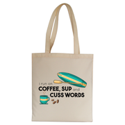 Paddle quote tote bag canvas shopping