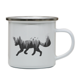 Forest fox animal enamel camping mug outdoor cup colors - Graphic Gear