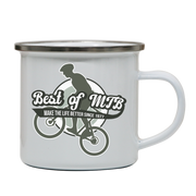 Mountain bike quote enamel camping mug outdoor cup colors - Graphic Gear