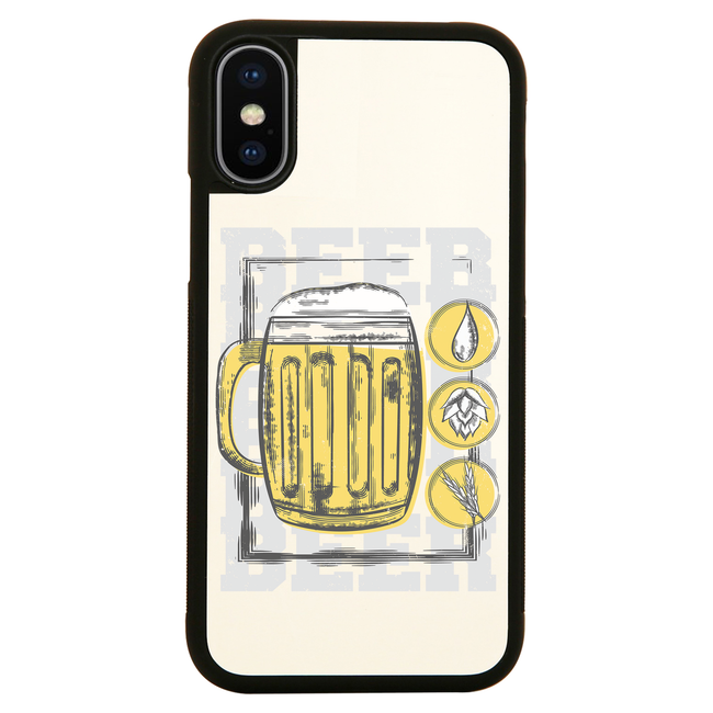 Beer glass drinking iPhone case cover 11 11Pro Max XS XR X - Graphic Gear