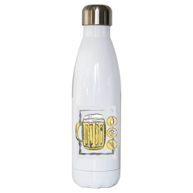 Beer glass drinking water bottle stainless steel reusable