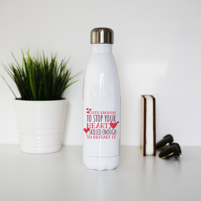 Nurse funny quote water bottle stainless steel reusable - Graphic Gear