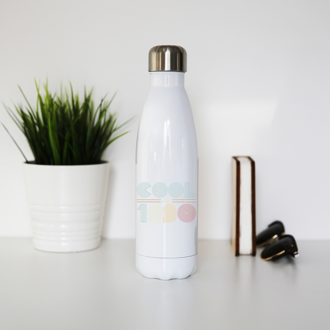 Cool since 1990 water bottle stainless steel reusable - Graphic Gear