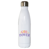 Girl power quote water bottle stainless steel reusable - Graphic Gear