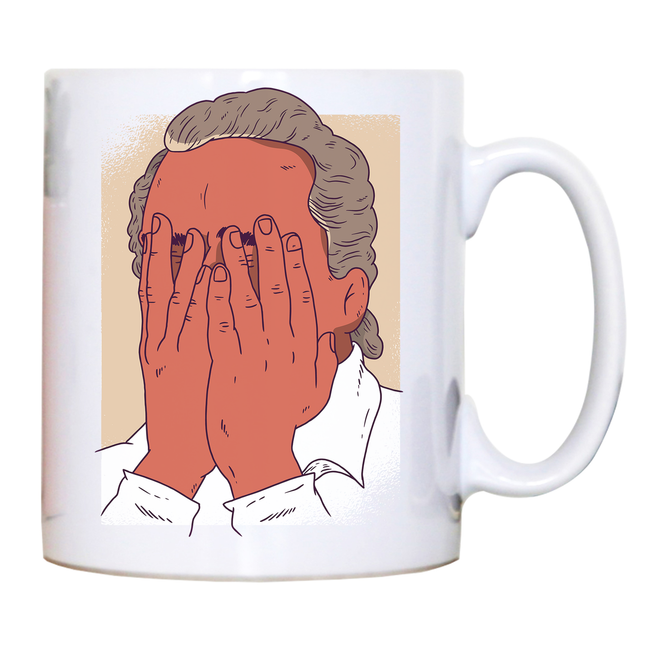 Facepalm man funny mug coffee tea cup - Graphic Gear