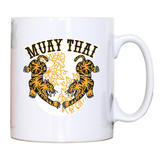 Muay thai tigers mug coffee tea cup - Graphic Gear
