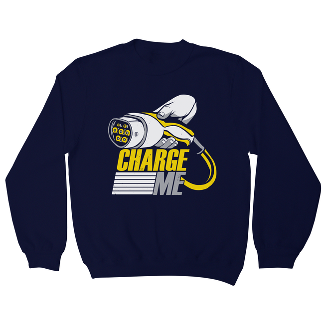 Electric car quote sweatshirt - Graphic Gear