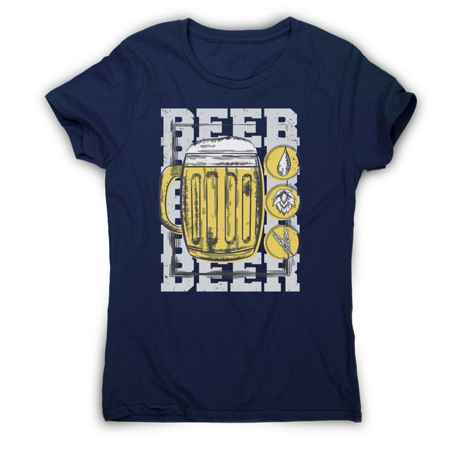 Beer glass drinking women's t-shirt - Graphic Gear