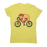 Bike sloth funny women's t-shirt