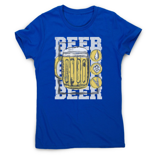 Beer glass drinking women's t-shirt