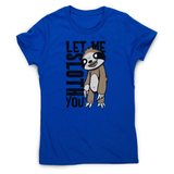 Creepy sloth women's t-shirt