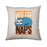 Funny sloth quote napping cushion cover pillowcase linen home decor