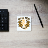 Muay thai tigers coaster drink mat - Graphic Gear