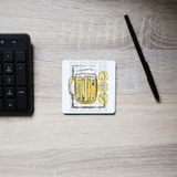 Beer glass drinking coaster drink mat - Graphic Gear