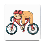 Bike sloth funny coaster drink mat - Graphic Gear