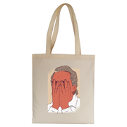 Facepalm man funny tote bag canvas shopping