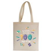 School teacher quote tote bag canvas shopping