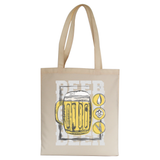 Beer glass drinking tote bag canvas shopping - Graphic Gear