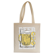 Beer glass drinking tote bag canvas shopping