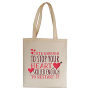 Nurse funny quote tote bag canvas shopping