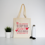 Nurse funny quote tote bag canvas shopping - Graphic Gear