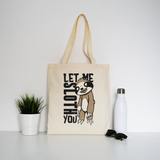 Creepy sloth tote bag canvas shopping - Graphic Gear