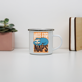 Funny sloth quote napping enamel camping mug outdoor cup colors