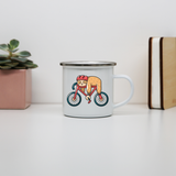 Bike sloth funny enamel camping mug outdoor cup colors - Graphic Gear