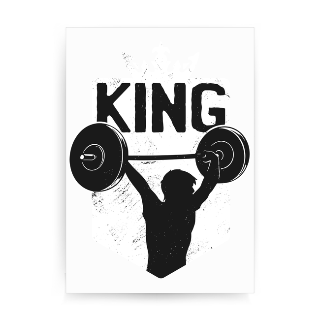 Weightlifting King print poster wall art decor - Graphic Gear