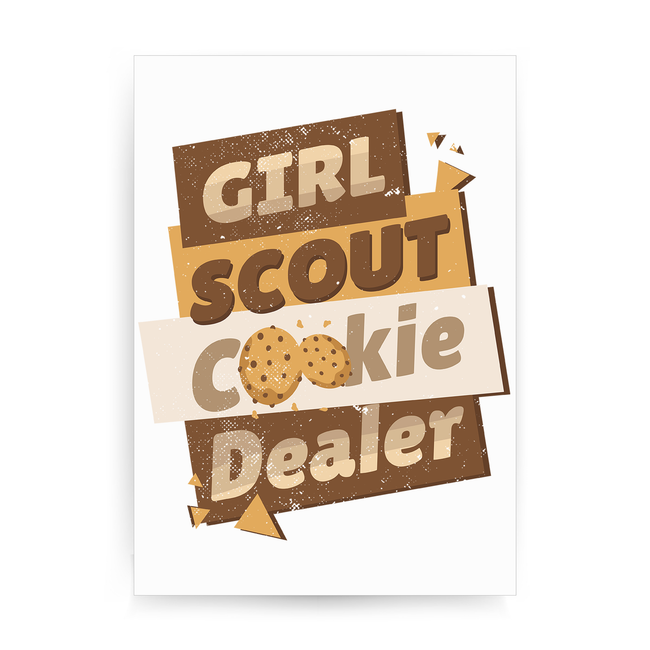 Girl scout quote print poster wall art decor - Graphic Gear